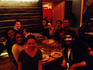 Robinson Lab outing Krust Pizza Fall 2014